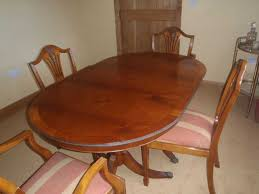 Yew Dining Table And Chairs For Sale