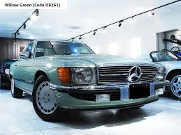 mercedes r107 560sl willow green mercedes r107 560sl pinterest