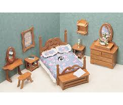 Bedroom Set Amazon Com Greenleaf Dollhouse Furniture Kit For Bedroom Arts