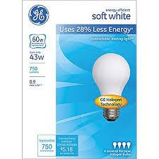 ge energy efficient a19 lightbulb 43 watt 60 watt equivalent