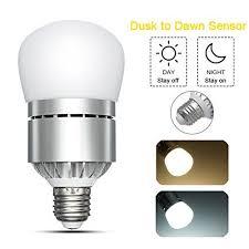 dusk to dawn light sensor led dusk to dawn light bulb elfeland smart led photo sensor lights