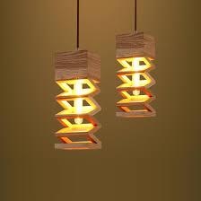 pendant lights led led e27 nordic wooden spring shaped led lamp led light pendant