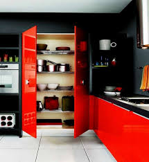 kitchen design interesting awesome black and red kitchen designs