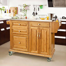 kitchen island with drawers stainless steel kitchen islands carts with drawers ebay