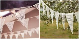 guirlande fanion mariage décoration de mariage en dentelle une suspension à faire soi