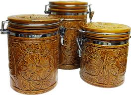 western kitchen canisters rwsa9160 western tooled belt 3 ceramic canister set