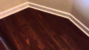 Installing Laminate Flooring Youtube Laminate Flooring With White Quarter Round Youtube