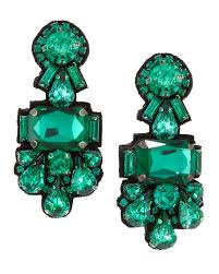emerald green earrings deepa gurnani statement earrings emerald