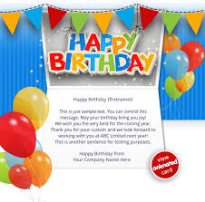 corporate birthday cards corporate birthday ecards employees clients happy birthday cards