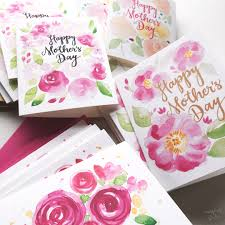 Mother S Day Greeting Card Handmade Watercolor Floral Mother U0027s Day Cards Mospens Studio
