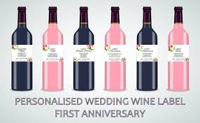 anniversary wine bottles personalised wine bottles custom wine bottles design online