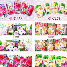 summer designs water transfer decals full beauty flower