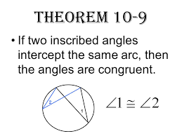 section 10 3 inscribed angles inscribed angles an angle whose