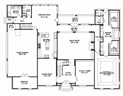 4 bedroom 3 5 bath house plans fresh 4 bedroom one story house plans house plan