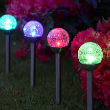 Landscape Lighting World 4 Colour Changing Solar Crackle Ball Stake Lights World Of Solar