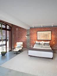 exposed brick wall lighting sleek stylish bedroom also exposed red brick walls in modern design