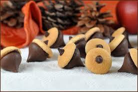 chocolate acorns desserts chocolate thanksgiving