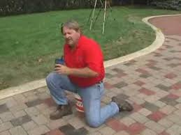 How To Stain Concrete Patio Yourself Masonry Cosmetics Staining Concrete Pavers Youtube