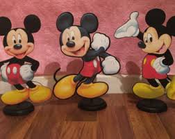 mickey mouse clubhouse centerpieces 5 characters table decor