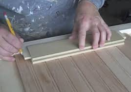 How To Reface Cabinets With Beadboard Marking Kitchen Cabinet Door Center Panel Cabinet Doors Kitchen