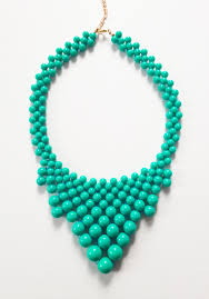 necklace beaded images London beaded necklace sea green trendy jpg