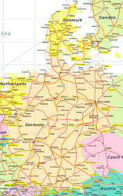 map of gemany germany denmark map thumbalize me