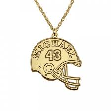 Personalized Name Pendant Football Helmet Name Pendant 24mm Personalized Jewelry