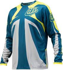 motocross jersey sale troy lee designs sprint reflex jersey blau gelb motocross jerseys