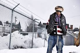 Flag Clothing Funky African Man In American Flag Themed Winter Clothing
