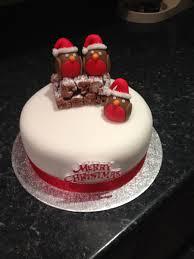 christmas cake robin decoration u2013 decoration image idea