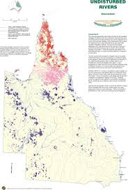 Map Of Queensland Australia U0027s Natural Lands And Rivers Maps Identified Natural