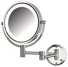 wall mounted makeup mirror with lighted battery jerdon lighted mirror direct wire reviews houzz pertaining to wall