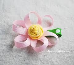 loopy bow loopy ribbon hair clip tutorial