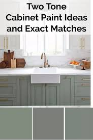 different color ideas for kitchen cabinets two color kitchen cabinets ideas and exact paint color