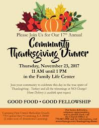 thanksgiving dinner united methodist church
