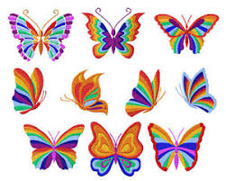 rainbow butterflies machine embroidery designs 4x4 ebay