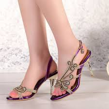 bridesmaid sandals fashion high heel 3 colors sandals rhinestone open toe