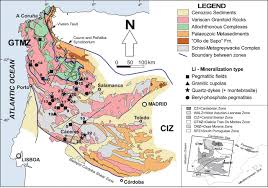 Iberia Route Map by Geology And Mineralogy Of Li Mineralization In The Central Iberian