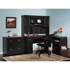 Computer Desk With File Cabinet Furniture Black Corner Home Office Computer Desk With Hutch And