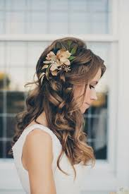 casual long hair wedding hairstyles 45 spectacular wedding hairstyles with flower long curly hair