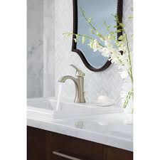 Bathroom Faucets Amazon Moen Voss One Handle High Arc Bathroom Faucet With Drain Assembly