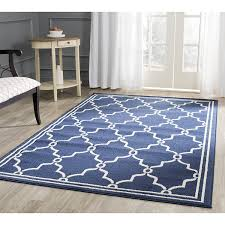 Area Rugs 6 X 10 Safavieh Amherst Collection Amt414p Navy And Beige