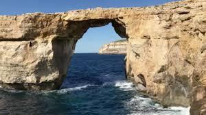 malta u0027s famed azure window falls the weather channel