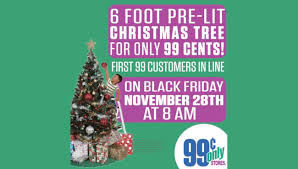 cents 6 foot pre lit tree is black friday doorbuster at 99