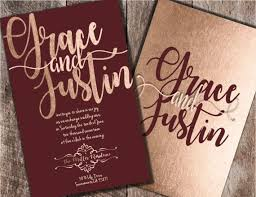 wedding invitations burgundy gold and burgundy wedding invitations wally designs