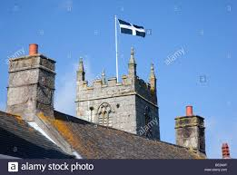 Cornwall Flag St Piran U0027s Flag Church Tower St Just In Penwith Cornwall