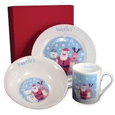 personalised bone china childrens snow breakfast