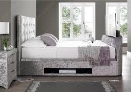 Ottoman Storage Beds Uk by Linea Design Kaydian Barnard Tv Ottoman Storage Bed Madras Leather