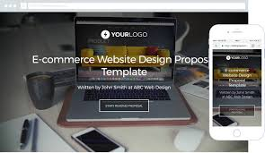 free ecommerce website design proposal template better proposals