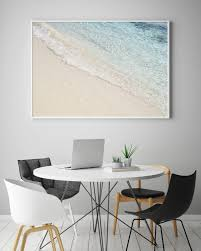 wave print beach art coastal poster ocean photography